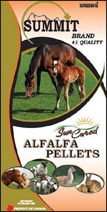 Sun Cured Alfalfa Pellets - Summit Forages